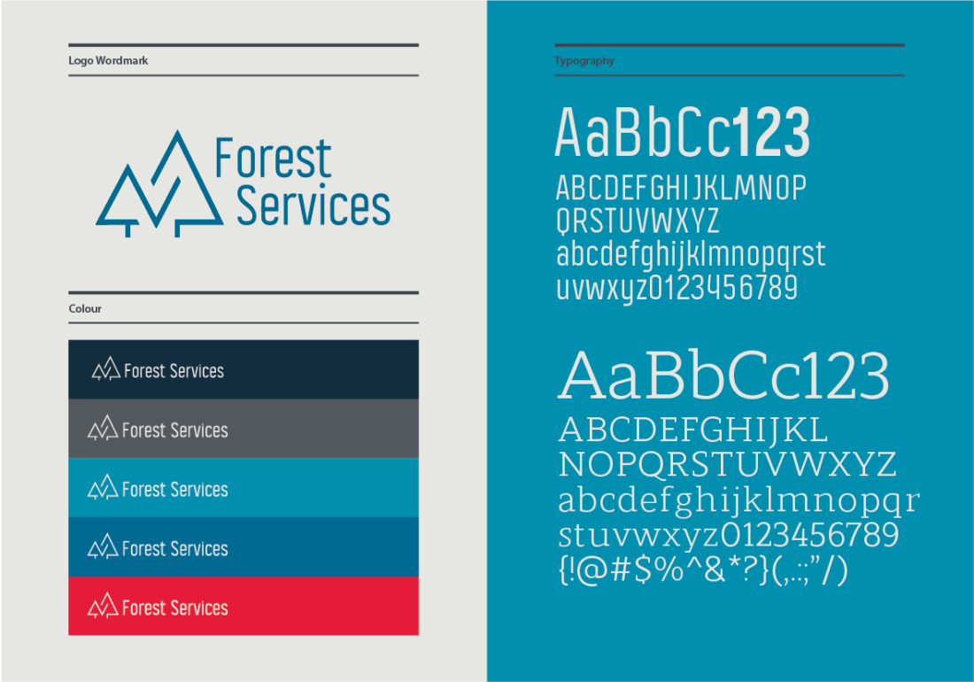 branding and design forest services